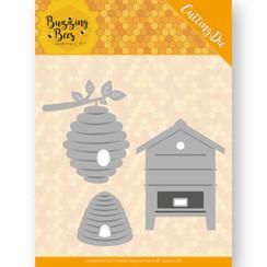 JAD10075 - Mal - Jeanines Art - Buzzing Bees - Beehives