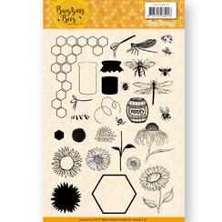 JACS10028 - Stempel - Jeanines Art - Buzzing Bees
