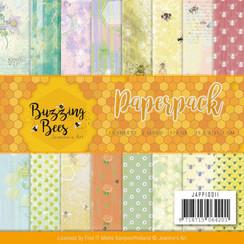 JAPP10011 - Papierpak - Jeanines Art - Buzzing Bees