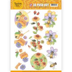SB10368 - 3D Uitdrukvel - Jeanines Art - Buzzing Bees - Sweet Bees