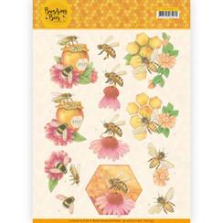 CD11339 - 10 stuks knipvellen - Jeanines Art - Buzzing Bees - Honey Bees