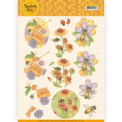 CD11340 - 10 stuks knipvellen - Jeanines Art - Buzzing Bees - Sweet Bees