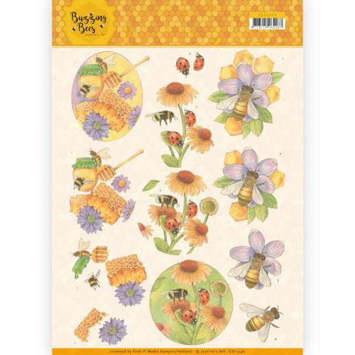 Jeanines Art CD11340 - 10 stuks knipvellen - Jeanines Art - Buzzing Bees - Sweet Bees