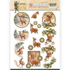 SB10371 - 3D Uitdrukvel - Amy Design - Christmas in Gold - Deers in Gold