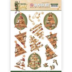 SB10372 - 3D Uitdrukvel - Amy Design - Christmas in Gold - Trees in Gold