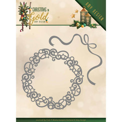 ADD10181 - Mal - Amy Design - Christmas in Gold - Christmas Wreath
