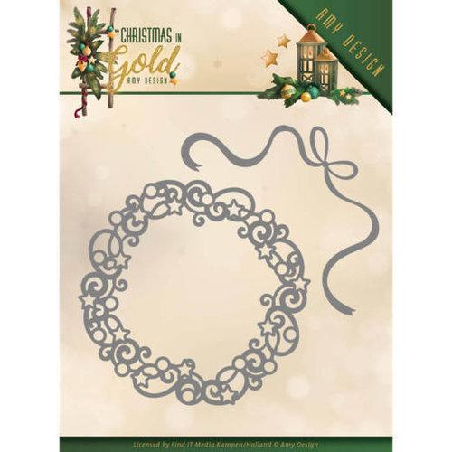 Amy Design ADD10181 - Mal - Amy Design - Christmas in Gold - Christmas Wreath