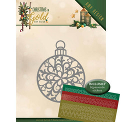ADD10183 - Mal - Amy Design - Christmas in Gold - Christmas Bauble Hobbydots
