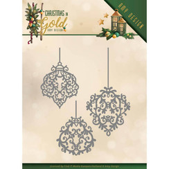 ADD10184 - Mal - Amy Design - Christmas in Gold - Golden Ornaments