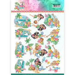 CD11330 - 10 stuks knipvellen - Yvonne Creations - Tropical Holiday