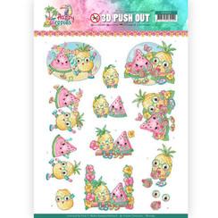 SB10363 - 3D Uitdrukvel - Yvonne Creations - Happy Tropics -Tropical Fruits