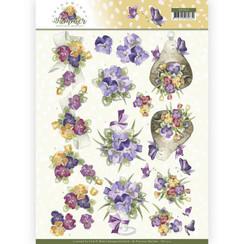 CD11313 - 10 stuks knipvellen - Precious Marieke - Blooming Summer - Summer Pansies