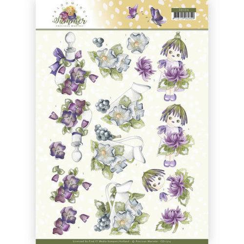 Precious Marieke CD11314 - 10 stuks knipvellen - Precious Marieke - Blooming Summer - Summer Scenes