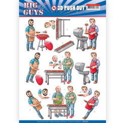 SB10360 - 3D Uitdrukvel - Yvonne Creations- Big Guys - Backyard BBQ