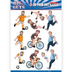 SB10357 - 3D Uitdrukvel - Yvonne Creations- Big Guys - Sports