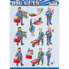 CD11328 - 10 stuks knipvellen - Yvonne Creations- Big Guys - Repairs