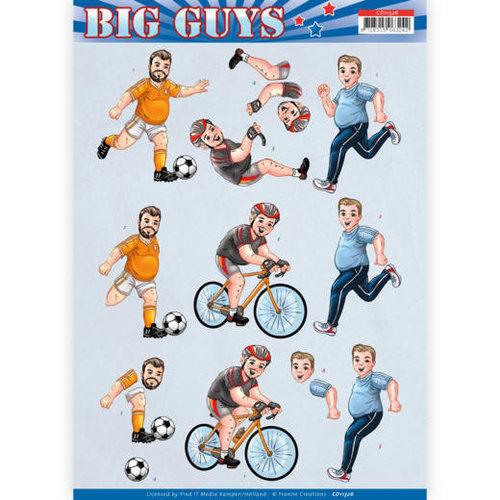 Yvonne Creations CD11326 - 10 stuks knipvellen - Yvonne Creations- Big Guys - Sports