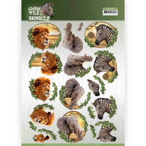 Amy Design CD11301 - 10 stuks knipvellen - Amy Design - Wild Animals - Africa