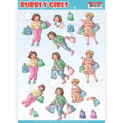 CD11307 - 10 stuks knipvellen - Yvonne Creations- Bubbly Girls - Shopping