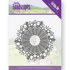 JAD10064 - Mal - Jeanines Art- Spring Landscapes - Spring Scalloped Circle