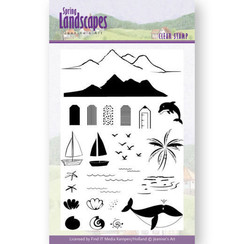 JACS10027 - Stempel - Jeanines Art- Spring Landscapes Sea