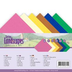JA-A5-10008 - Linnenpakket - A5 - Jeanines Art - Spring Landscapes