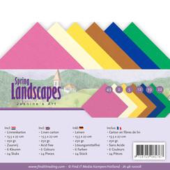 JA-4K-10008 - Linnenpakket - 4K- Jeanines Art - Spring Landscapes
