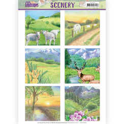 CDS10009 - Die Cut Topper - Scenery  Jeanines Art - Spring Landscapes 2