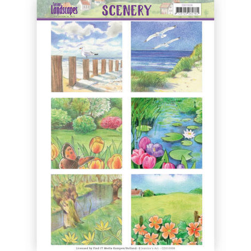 Jeanines Art CDS10008 - Die Cut Topper - Scenery  Jeanines Art - Spring Landscapes 1