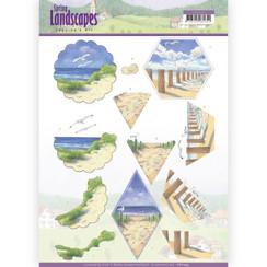 CD11295 - 10 stuks knipvellen - Jeanines Art- Spring Landscapes - Beach