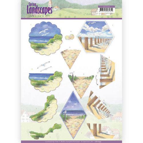 Jeanines Art CD11295 - 10 stuks knipvellen - Jeanines Art- Spring Landscapes - Beach