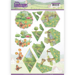 CD11294 - 10 stuks knipvellen - Jeanines Art- Spring Landscapes - Meadows