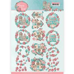 CD11291 - 10 stuks knipvellen - Yvonne Creations - Flowers with a Twist - Living Flowers