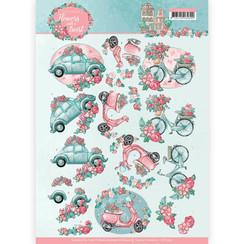 CD11290 - 10 stuks knipvellen - Yvonne Creations - Flowers with a Twist - Flower Transport