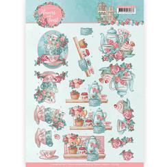 CD11289 - 10 stuks knipvellen - Yvonne Creations - Flowers with a Twist - Tea Time