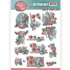 SB10340 - 3D Uitdrukvel - Yvonne Creations - Flowers with a Twist - Tea Time