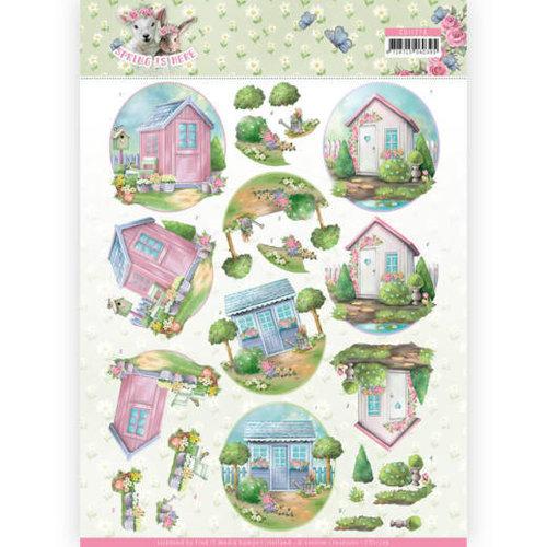 Amy Design CD11279 - 10 stuks knipvellen - Amy Design - Spring is Here - Garden Sheds