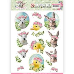 SB10331 - 3D Uitdrukvel - Amy Design - Spring is Here - Baby Animals