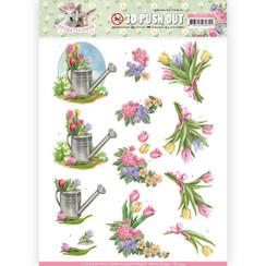 SB10332 - 3D Uitdrukvel - Amy Design - Spring is Here - Tulips