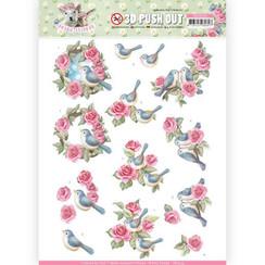 SB10333 - 3D Uitdrukvel - Amy Design - Spring is Here - Birds and Roses