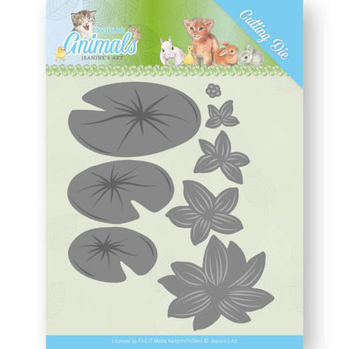 Jeanines Art JAD10069 - Mal - Jeanines Art- Young Animals - Lily Pond Leaves