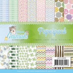 JAPP10009 - Papierpak - Jeanines Art- Young Animals