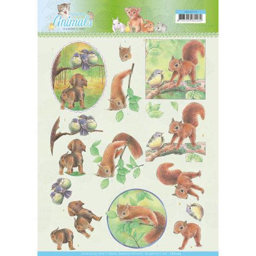 Jeanines Art CD11273 - 10 stuks knipvellen - Jeanines Art- Young Animals - In the Forest