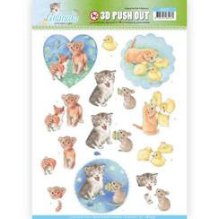 SB10337 - 3D Uitdrukvel - Jeanines Art- Young Animals - Kittens