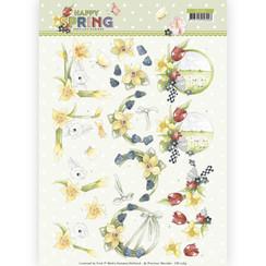 CD11264 - 10 stuks knipvellen - Precious Marieke - Happy Spring - Happy Daffodils