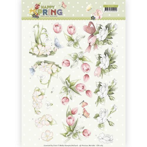 Precious Marieke CD11265 - 10 stuks knipvellen - Precious Marieke - Happy Spring - Happy Spring Flowers