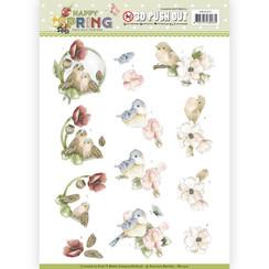 SB10327 - Uitdrukvel - Precious Marieke - Happy Spring - Happy Birds