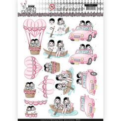SB10325 - 3D Uitdrukvel - Yvonne Creations- Pretty Pierrot 2 - Car Trip