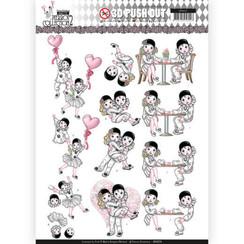 SB10324 - 3D Uitdrukvel - Yvonne Creations- Pretty Pierrot 2 - Love is in the Air