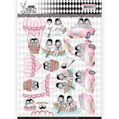 CD11255 - 10 stuks knipvellen - Yvonne Creations- Pretty Pierrot 2 - Car Trip
